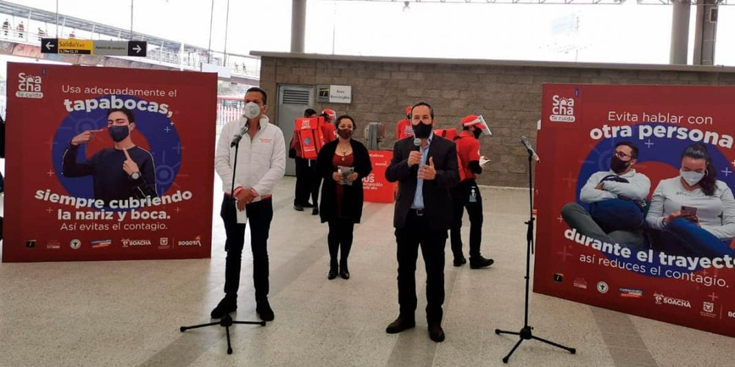 En Soacha entregarán 1.600 tapabocas en estaciones de Transmilenio