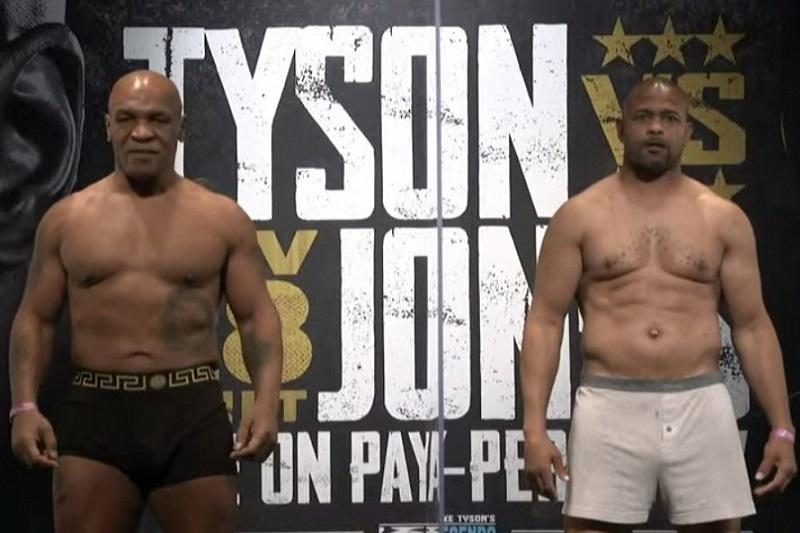 Mike Tyson y Roy Jones Jr