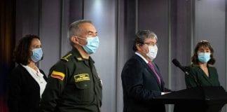 Ministro de Defensa y Director de la Policía