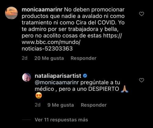 ¿Por qué tildan a Natalia París de irresponsable?