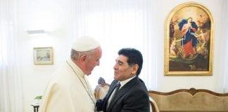 Papa Francisco y Diego Armando Maradona