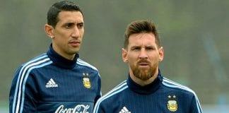 Ángel Di María y Lionel Messi