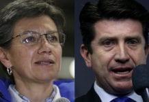 Claudia López y Diego Molano