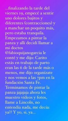 Carolina Cruz confirma el nacimiento de Salvador