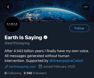 La Tierra creó Twitter y se quejó del clima en Bogotá-Momento24
