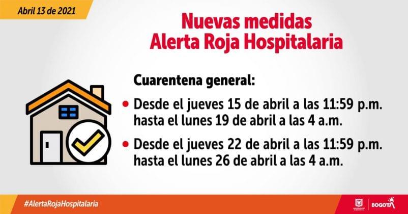 Bogotá vuelve a la cuarentena general desde el viernes