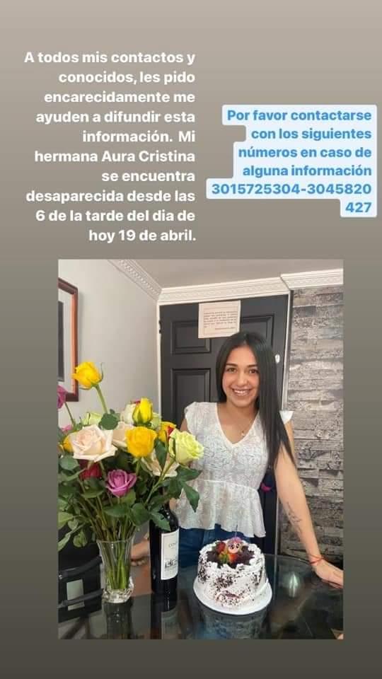 Joven de 22 años desapareció en Bogotá