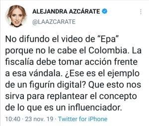 Epa Colombia habló de Alejandra Azcarate y su escánd