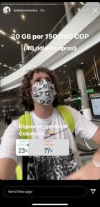 Luisito Comunica ya está en Colombia y grabó su experiencia-Momento24