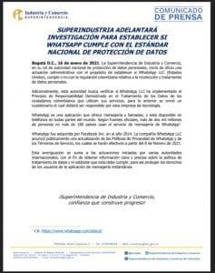 SIC pide a WhatsApp proteger los datos de los colombianos-Momento24