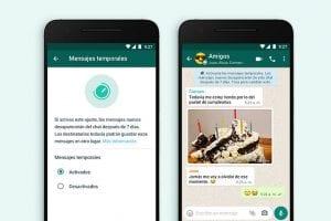 Mensajes temporales, la nueva opción en WhatsApp-Momento24