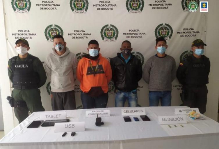 A prisión 4 delincuentes por extorsionar conductores en Usaquén