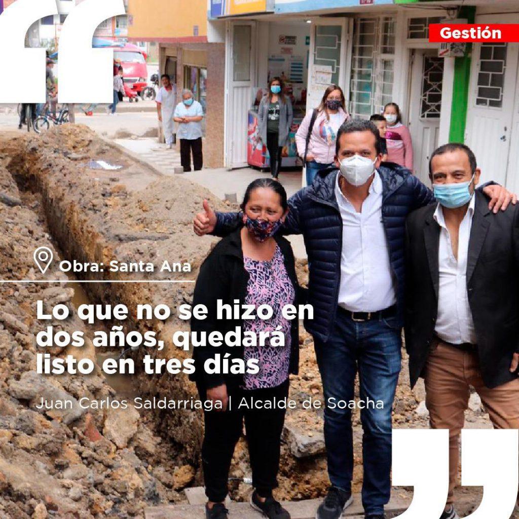 Obras en Soacha avanzan en pro de la comunidad