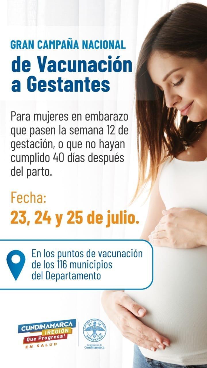 Cundinamarca también adelanta vacunación de embarazadas