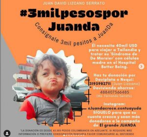 JuanDa, el pequeño con Síndrome de De Morsier