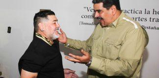 Nicolás Maduro y Diego Maradona