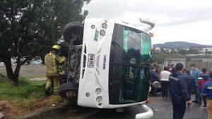 Accidente vial de bus escolar en Cundinamarca