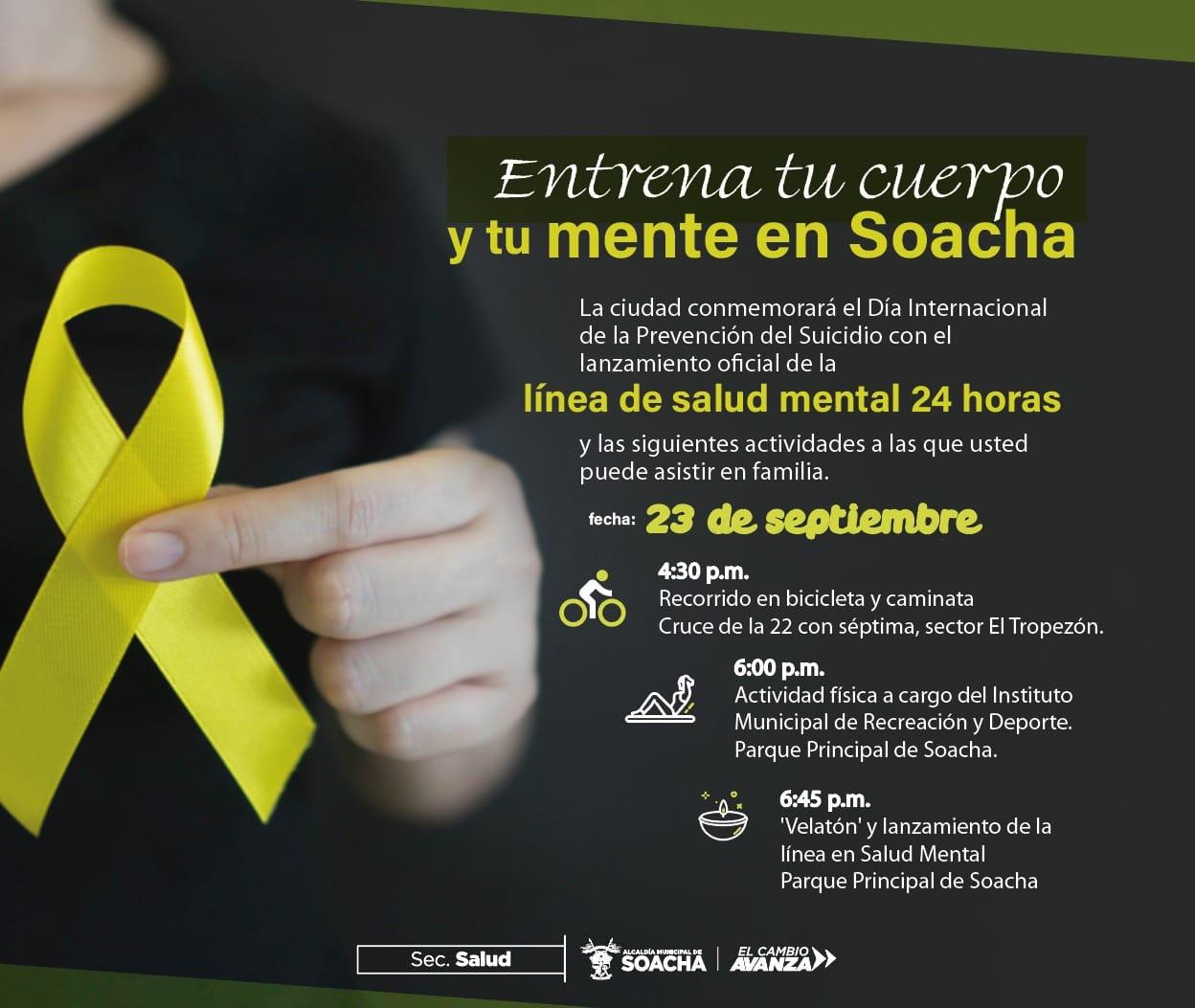 ¿Qué actividades harán en la jornada de salud mental en Soacha?