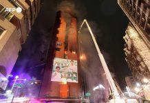 Poderoso incendio acabó con la vida de 46 personas en Taiwán