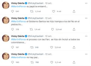 TWEET VICKY DAVILA.